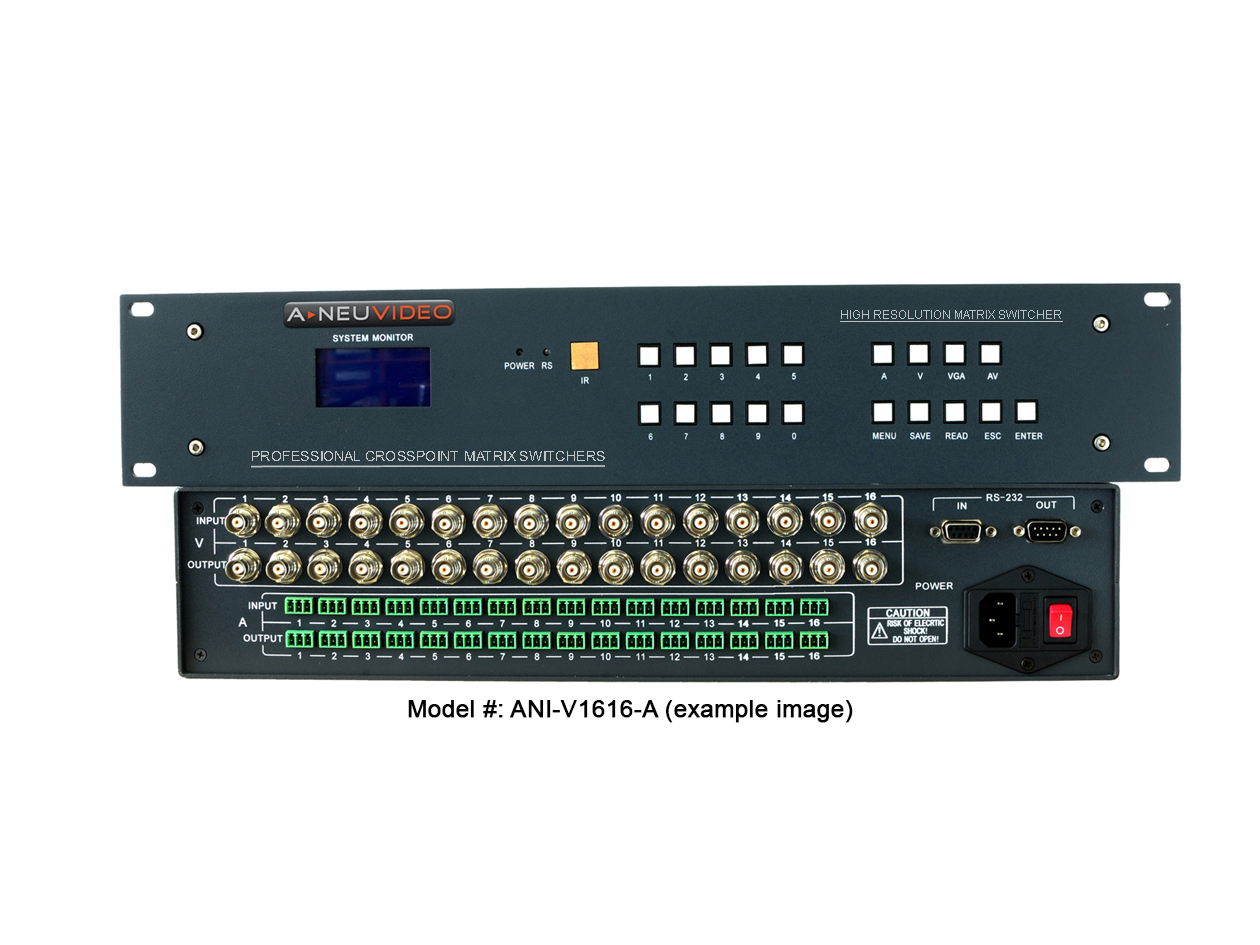 Composite Video Matrix Routing Switchers