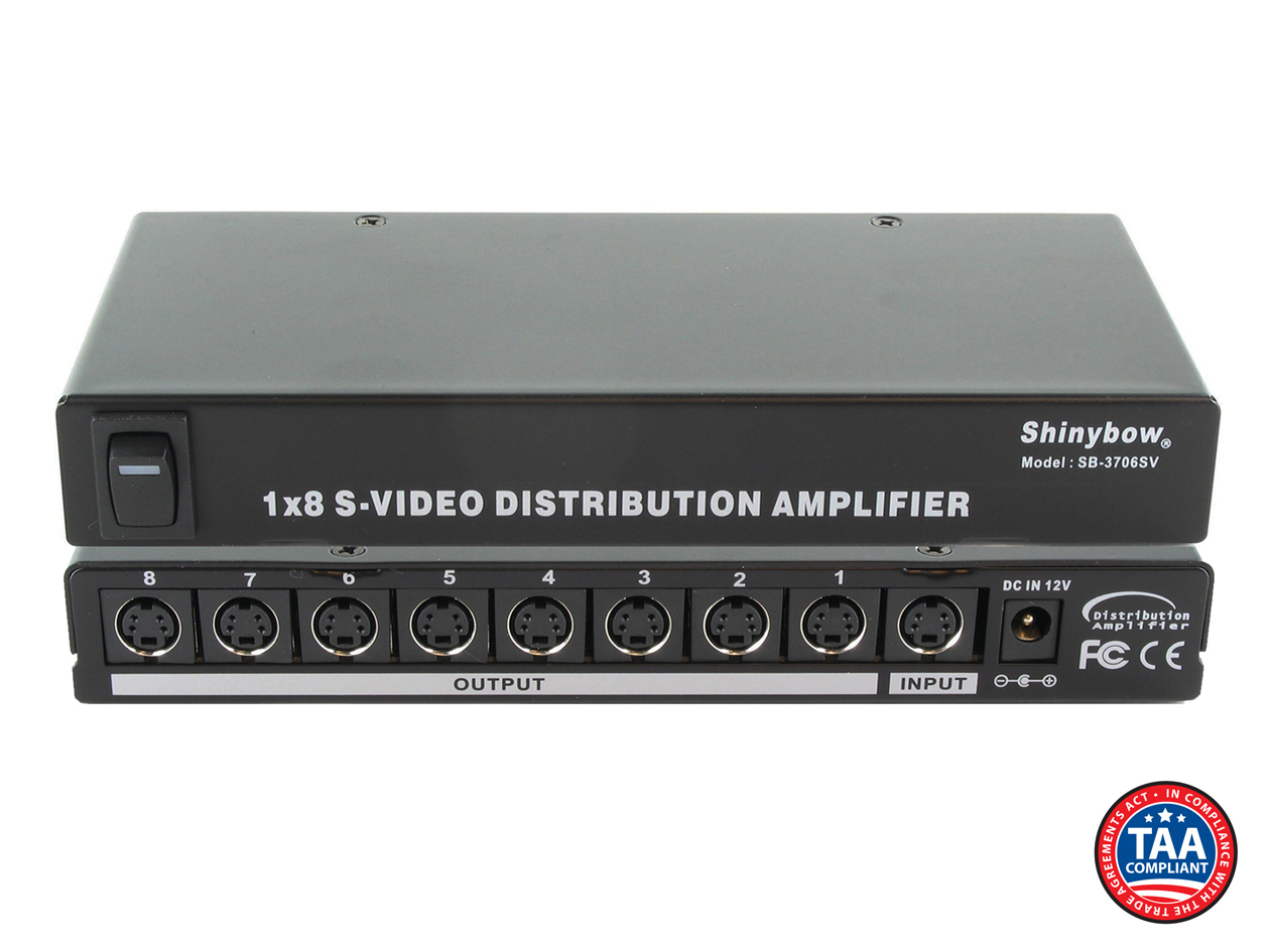 SB-3706SV: 1x8 S-Video Distribution Amplifier (S-Video only)