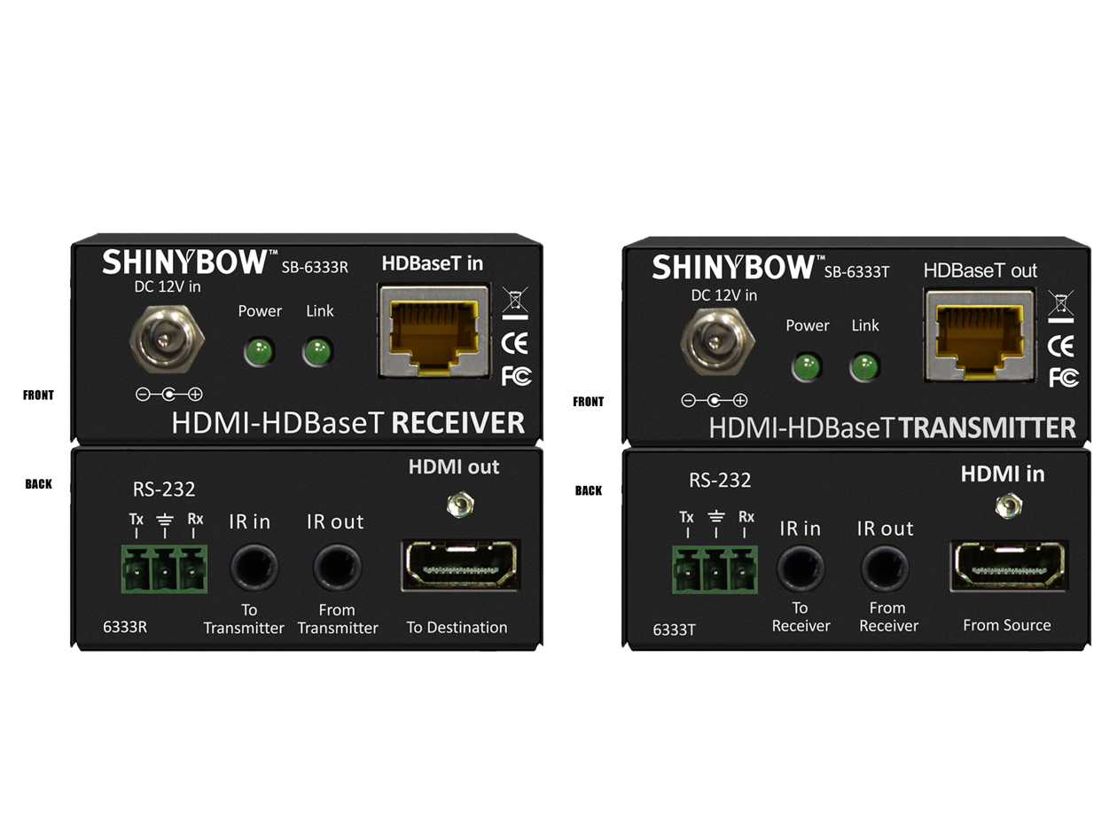 SB-6333x (KIT): HDMI HDBaseT™ Tx & Rx Kit up to 230 ft (70M) (2-Way IR, RS-232, HDMI) (one retail box)  B-Stock