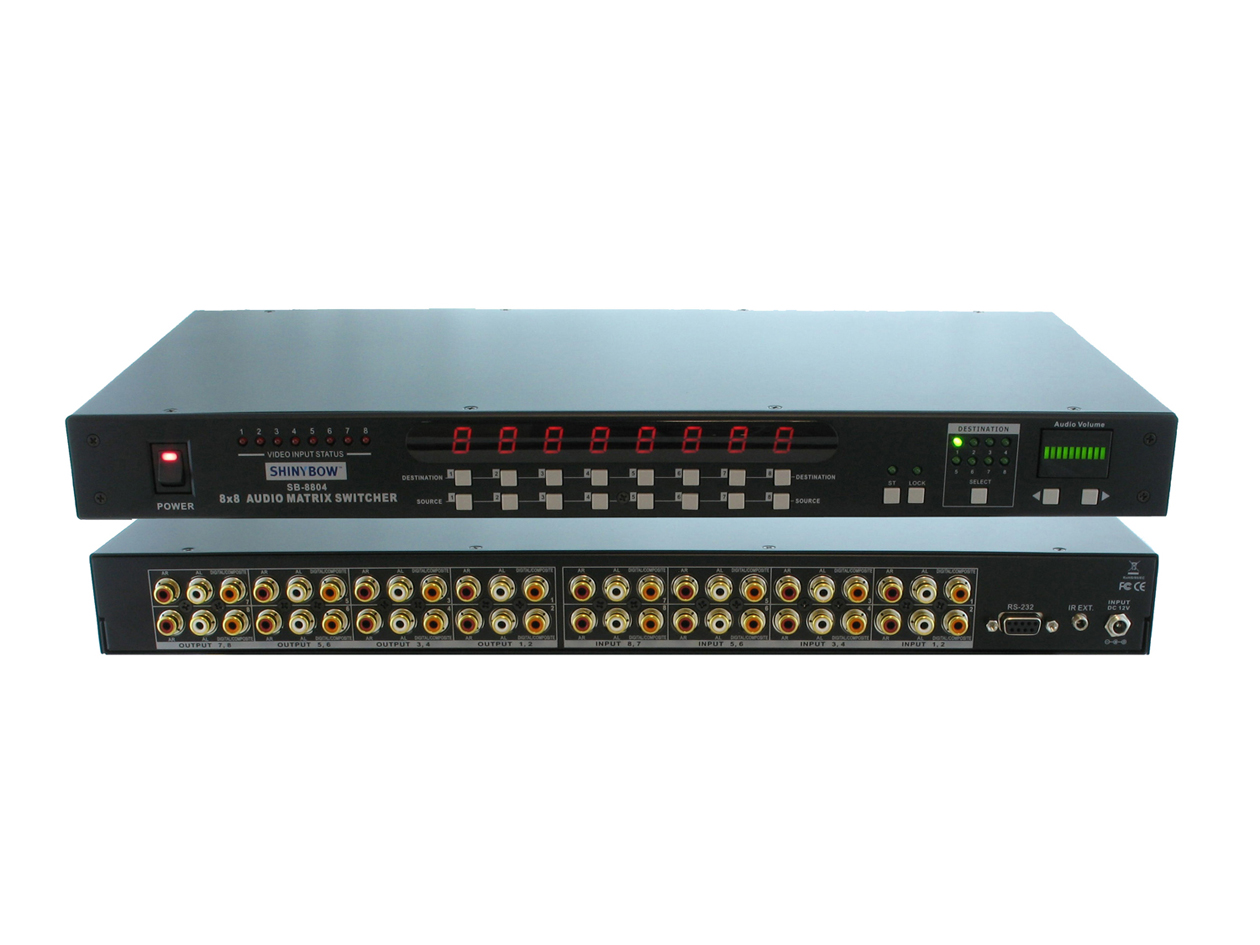SB-8804: 8x8 DIGITAL-AUDIO MATRIX SWITCHER   B-STOCK