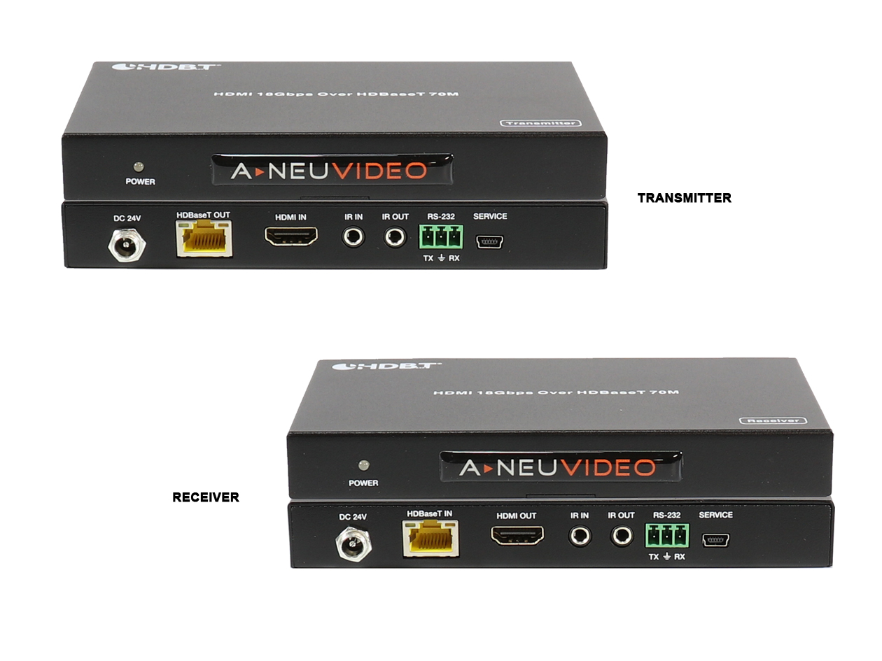 ANI-HDR-70:  B-STOCK HDMI 18Gbps Extender Over CAT5e/CAT6 Tx & Rx