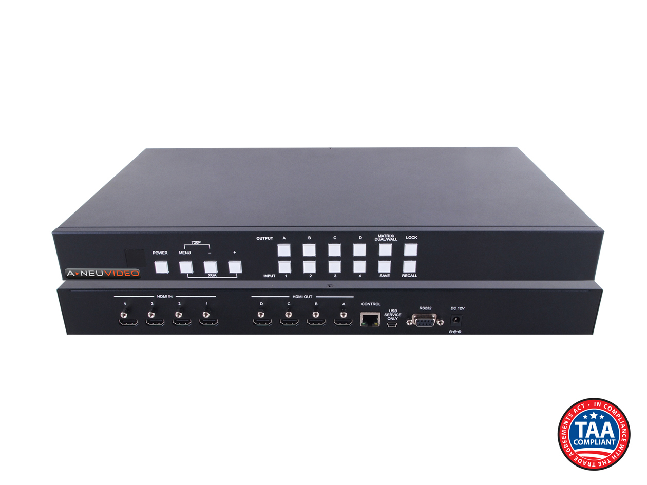 ANI-QUAD: B-STOCK 4x4 HDMI Video Wall Processor & Seamless Matrix Switch