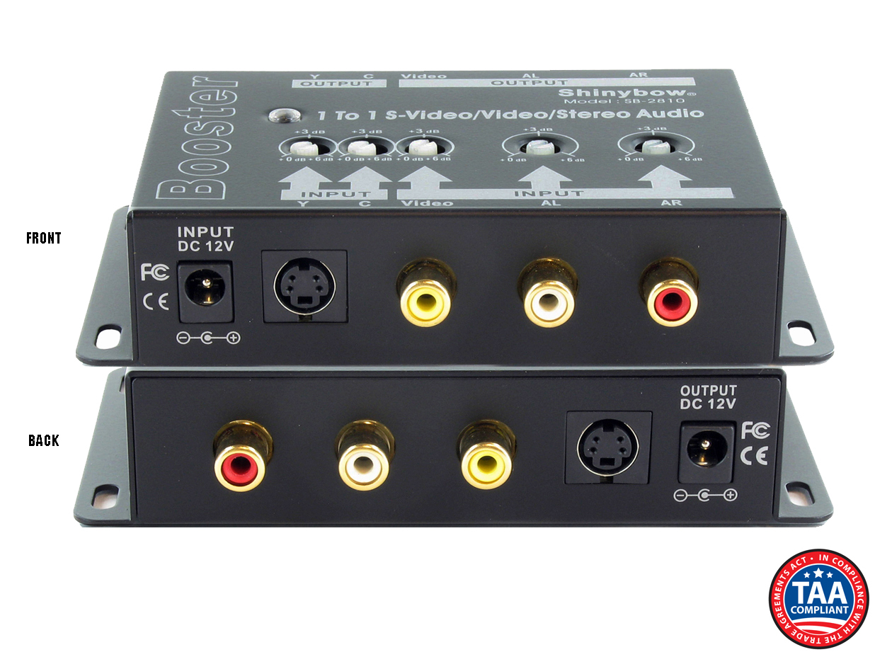 SB-2810: (1)In-(1)Out S-Video, Composite Video & Stereo Audio Booster