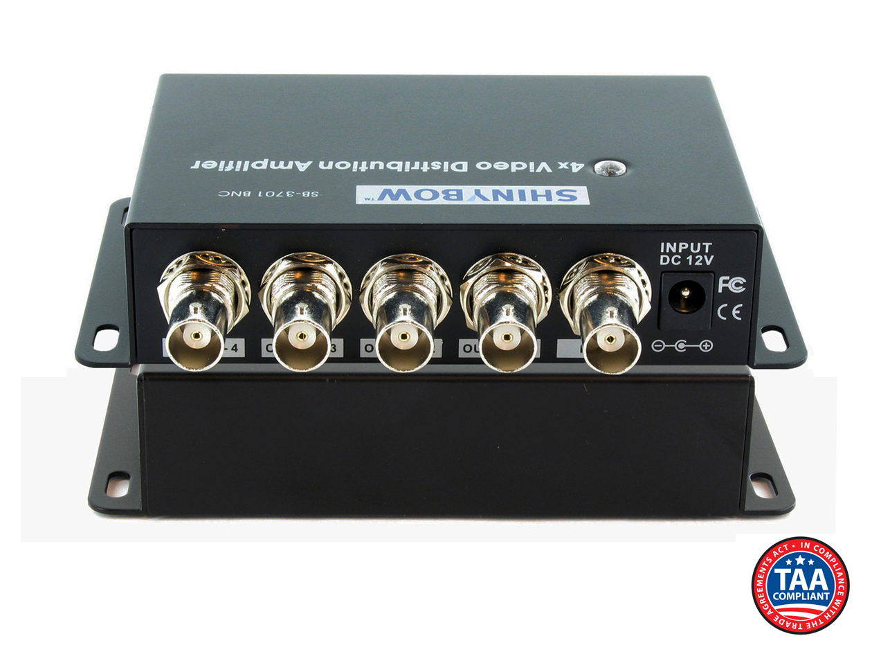 SB-3701BNC: 1x4 Composite Video Digital Distribution Amplifier (BNC)