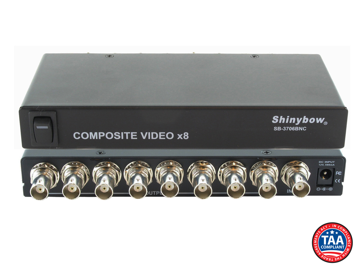 SB-3706BNC: 1x8 Composite Video Distribution Amplifier (BNC)