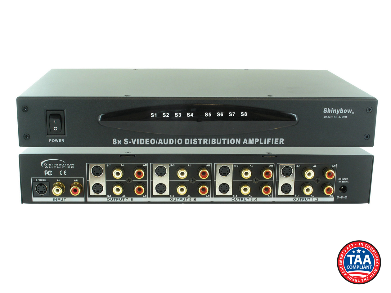 SB-3709M: 1x8 S-Video/Stereo Audio Distribution Amplifier