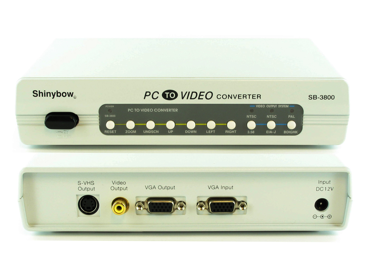 SB-3800: PC (VGA)  to S-Video or Composite Video Converter