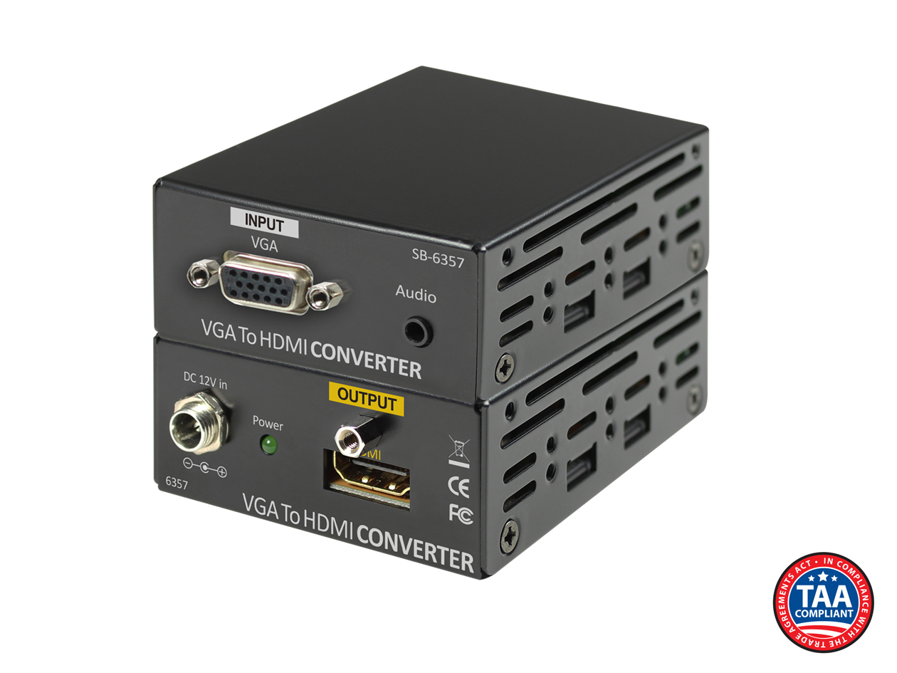 SB-6357: VGA w/ Audio to HDMI Converter
