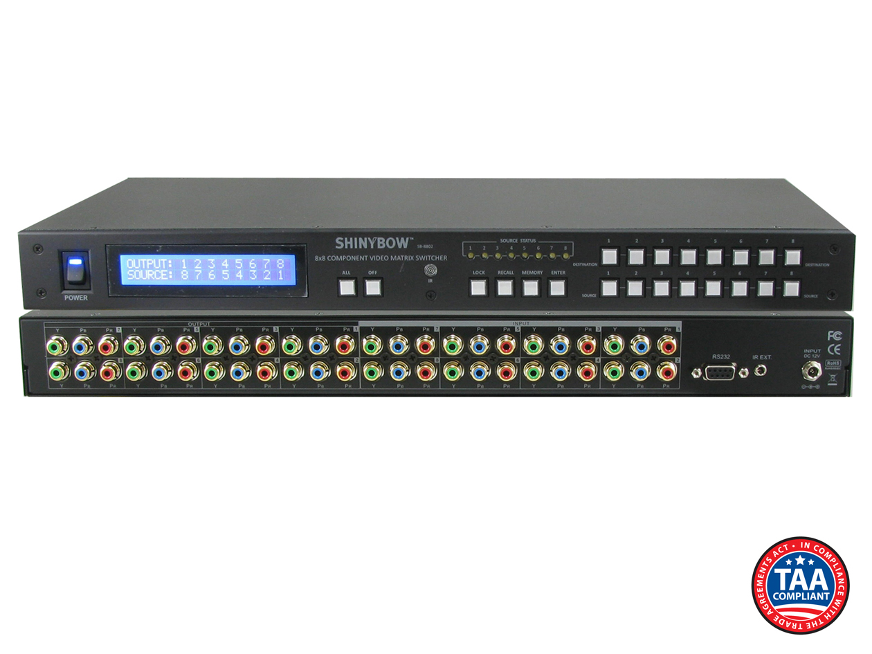 SB-8802LCM: 8x8 Component HDTV Video (w/o audio) Video Matrix Routing Switcher